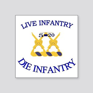 "5th Bn 20th INF cap4 Square Sticker 3"" x 3"""