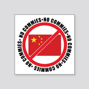 "slash commies Square Sticker 3"" x 3"""
