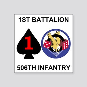 "2-Army-506th-Infantry-1st-B Square Sticker 3"" x 3"""