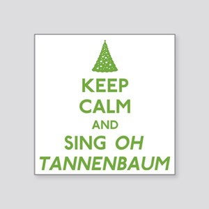 "FIN-keep-calm-sing-tannenba Square Sticker 3"" x 3"""