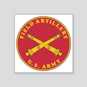 "Army-Artillery-Branch-Plaqu Square Sticker 3"" x 3"""