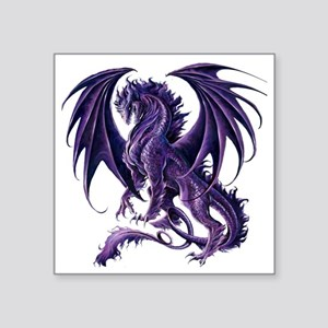 "Draconis Nox Dragon Square Sticker 3"" x 3"""