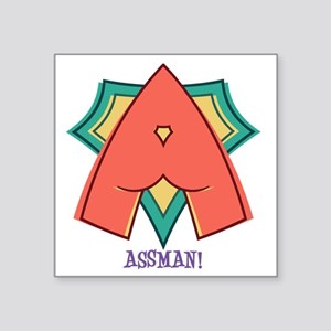 "assman-T Square Sticker 3"" x 3"""