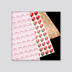 "Sheets of LSD (acid) tabs Square Sticker 3"" x 3"""