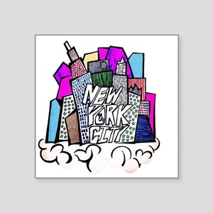 "nyc bish  Square Sticker 3"" x 3"""