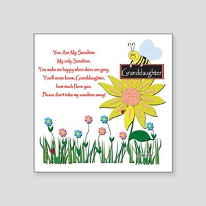 "You Are My Sunshine Grandau Square Sticker 3"" x 3"""