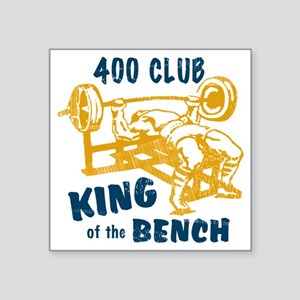 "bench_kob_400tran Square Sticker 3"" x 3"""