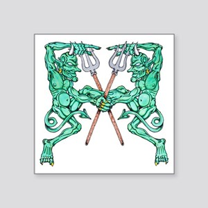 "dancing devils clear Square Sticker 3"" x 3"""