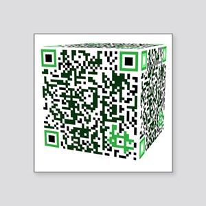"qr_borg Square Sticker 3"" x 3"""