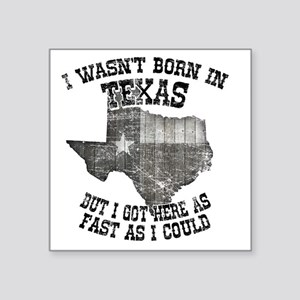 "Texas Square Sticker 3"" x 3"""