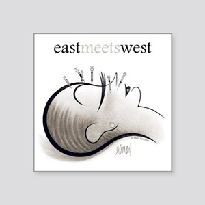 "EastMeetsWest_450 Square Sticker 3"" x 3"""