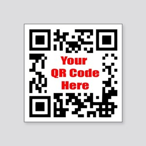 "Personalized QR Code Square Sticker 3"" x 3"""