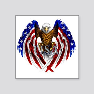 "eagle2 Square Sticker 3"" x 3"""