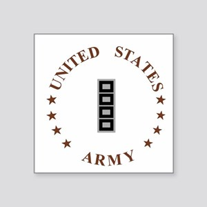 "Army-CWO5-Desert Square Sticker 3"" x 3"""