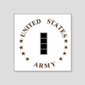 "Army-CWO4-Desert Square Sticker 3"" x 3"""