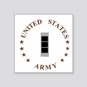 "Army-CWO3-Desert Square Sticker 3"" x 3"""