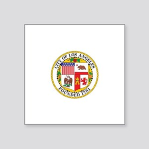 "los-angeles-city-seal Square Sticker 3"" x 3"""