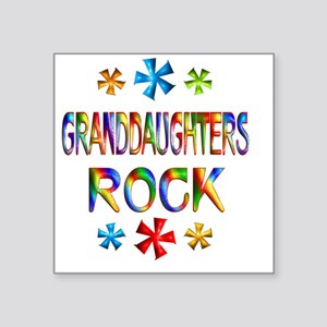 "GRANDDAUGHTER Square Sticker 3"" x 3"""