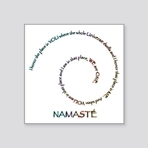 "Namaste and its Meaning Square Sticker 3"" x 3"""