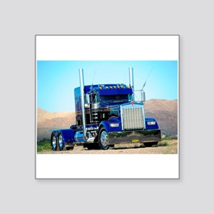 "Blue and Black Kenworth Square Sticker 3"" x 3"""