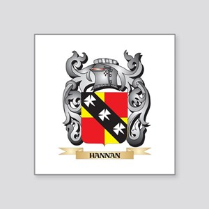 Hannan Coat of Arms - Family Crest Square Sticker