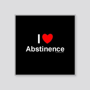 "Abstinence Square Sticker 3"" x 3"""