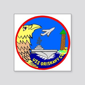 "USS Oriskany (CVA 34) Square Sticker 3"" x 3"""
