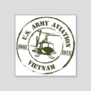 "Army Aviation Vietnam Square Sticker 3"" x 3"""
