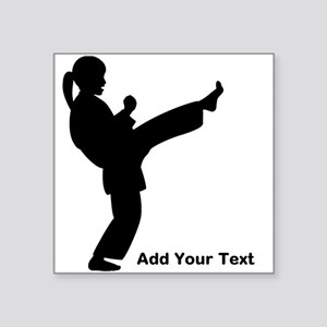 "Martial Arts Girls Square Sticker 3"" x 3"""