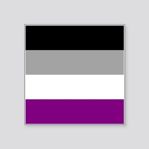 "Asexual Pride Flag Square Sticker 3"" x 3"""