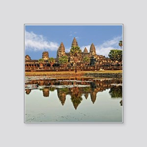 "ANGKOR WAT Square Sticker 3"" x 3"""