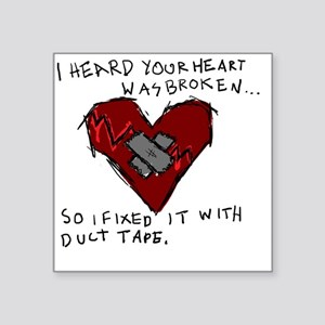 "Good Broken Heart Square Sticker 3"" x 3"""