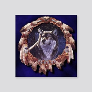 Native American Wolf Dream Catcher Sticker