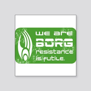 "Star Treck_We are BORG grunge Square Sticker 3"" x"