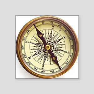 "Vintage Compass Square Sticker 3"" x 3"""