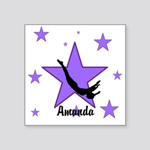 Purple Trampoline Star Sticker