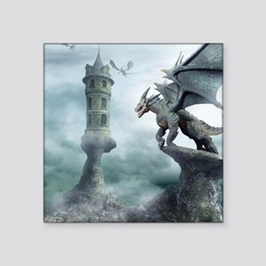 "Tower Dragons Square Sticker 3"" x 3"""
