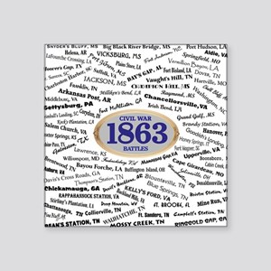 "Battles - 1863 Square Sticker 3"" x 3"""