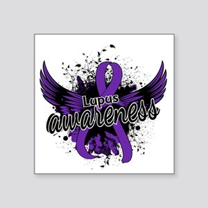 "Lupus Awareness 16 Square Sticker 3"" x 3"""