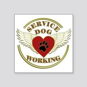SERVICE DOG WORKING WINGS Sticker