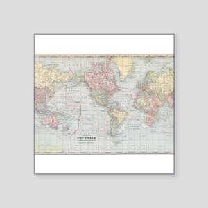 Vintage World Map (1901) Sticker