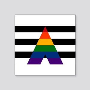 Solid LGBT Ally Pride Flag Sticker