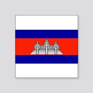 "Cambodiablank Square Sticker 3"" x 3"""