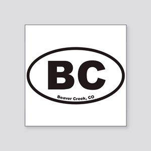 Beaver Creek Colorado BC Euro Oval Sticker