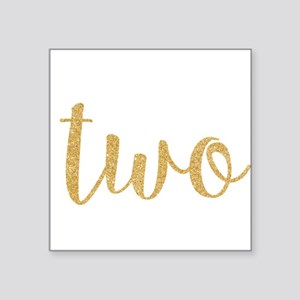 gold two Sticker