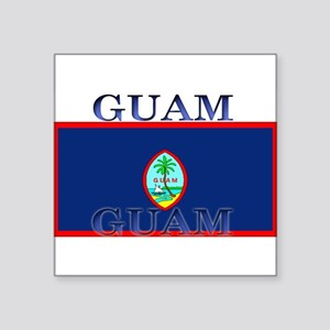 "Guam Square Sticker 3"" x 3"""