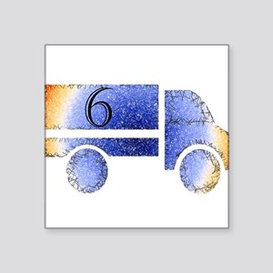 Baby is Six - 6 Month? or 6 Year? Square Sticker 3