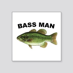 "Bassman Square Sticker 3"" x 3"""