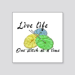 Live Life One Stitch at a Time Sticker