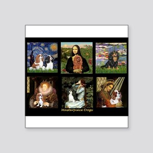 "Cavalier Famous Art Comp1 Square Sticker 3"" x 3"""